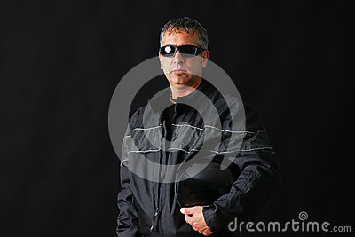 Biker guy with sunglasses