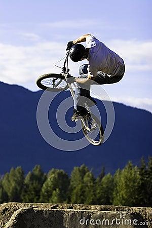 Biker jump sequence