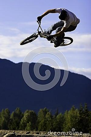 Free Biker Jump Sequence Stock Photos - 2997313