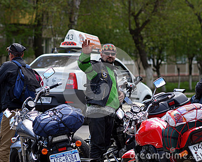 Biker Editorial Photo