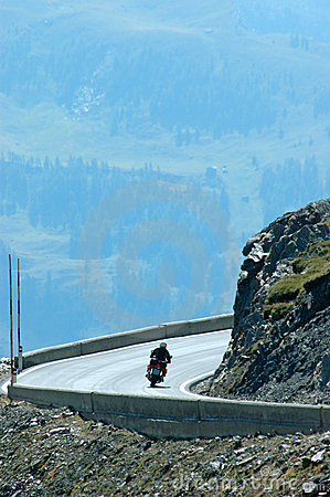 A biker in the mountain