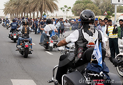Biker Parade Editorial Stock Photo