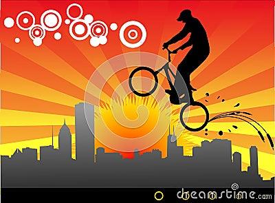 Biker vector illustration