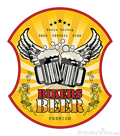 Bikers Beer label