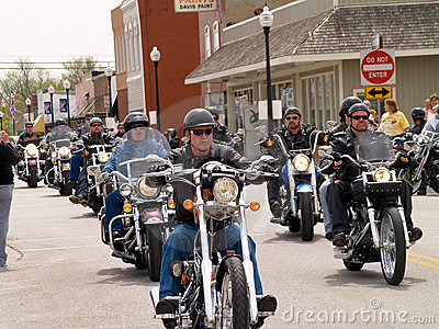 Bikers For Charity Editorial Stock Photo