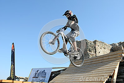 Bikers competition Editorial Stock Image