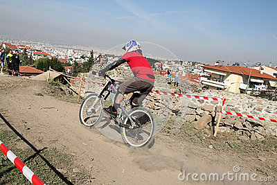 Bikers competition Editorial Stock Photo