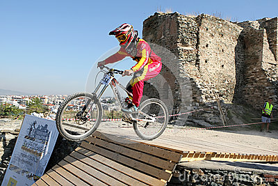 Bikers competition Editorial Photo