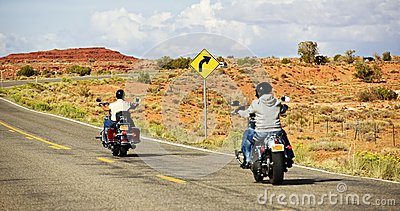 Bikers on Highway