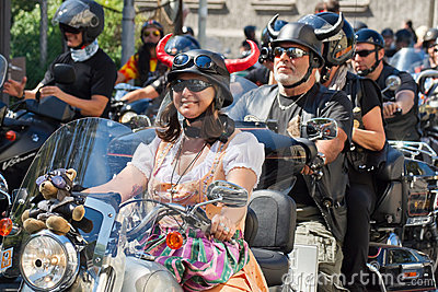 Bikers Parade Editorial Image