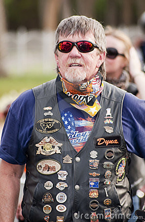 Bikers at Peace March Editorial Image