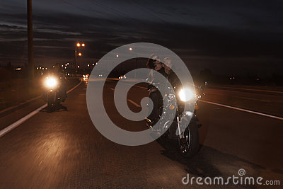 Bikers on road