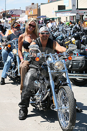 Bikers at Sturgis Bike Rally Editorial Stock Image