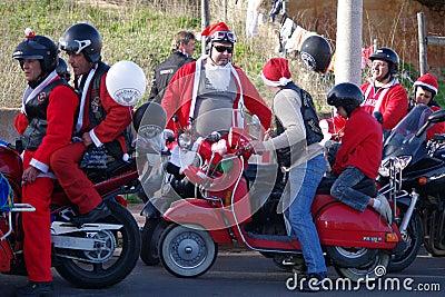 Bikers xmas parade Editorial Photo