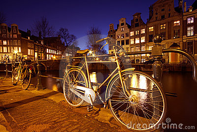 Bikes in Amsterdam the Netherlands
