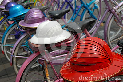 Bikes and helmets