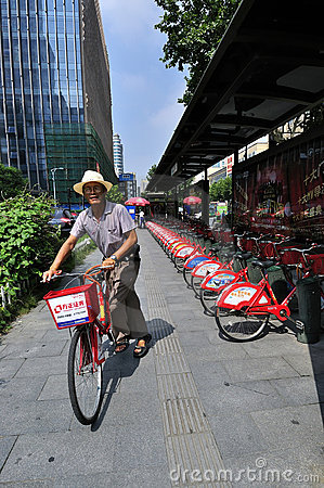 Bikes for rent Editorial Stock Image