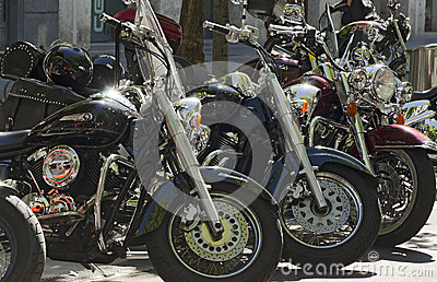 Bikes in a Row Editorial Photography