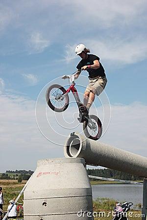 Biketrial Czech Championship Editorial Photo