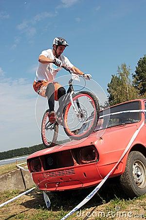 Biketrial Czech Championship Editorial Stock Photo