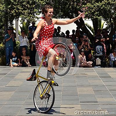 Free Biking Busker Stock Photography - 30458422