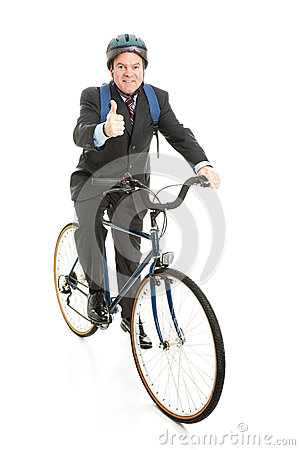 Biking to Work - Thumbs Up