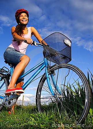 Biking woman