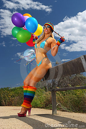 Bikini Balloon girl