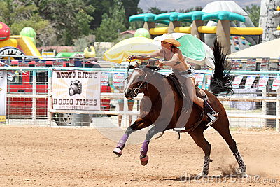Bikini Barrel Racing Editorial Stock Photo