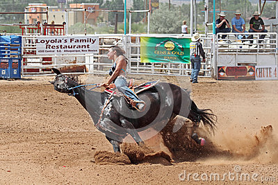 Bikini Barrel Racing Leaning Hard Editorial Photography