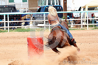 Bikini Barrel Racing Power Turn Editorial Image