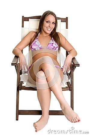 Bikini Girl Tanning