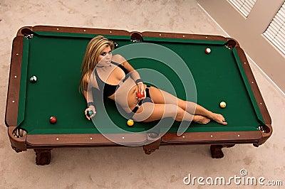 Bikini Pool Table