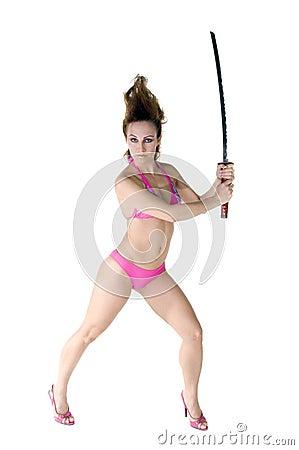 Bikini Samurai Dancer