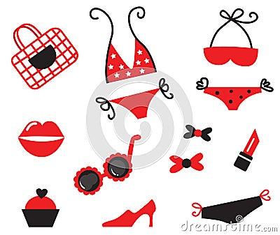 Bikini and sexy women items collection