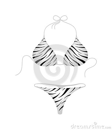 Bikini suit – zebra design