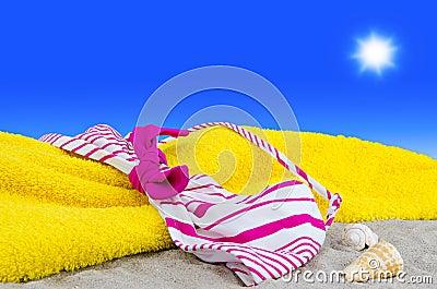 Bikini top on the beach