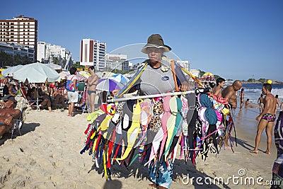 Bikini Vendor Ipanema Beach Rio de Janeiro Brazil Editorial Image