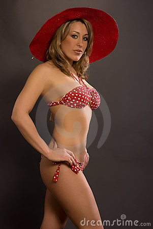 Bikini Woman With Hat