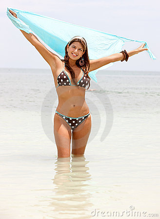Bikini woman with a sarong