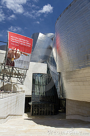 Bilbao, entry to Guggenheim Museum Editorial Photo