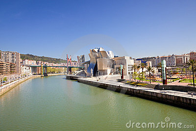 Bilbao Guggenheim Museum panoramic Editorial Stock Image