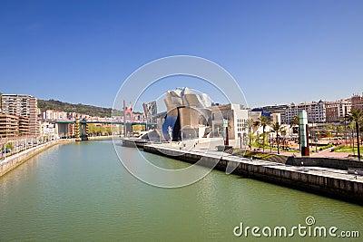 Bilbao Guggenheim Museum panoramic Editorial Stock Image