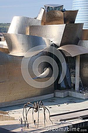 Bilbao museum Redaktionell Foto