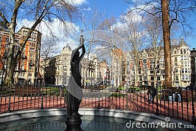 Bilbao park statue