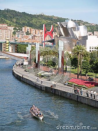 Bilbao, Spain - Augoust 17 Semana Grande 2008 Editorial Photo