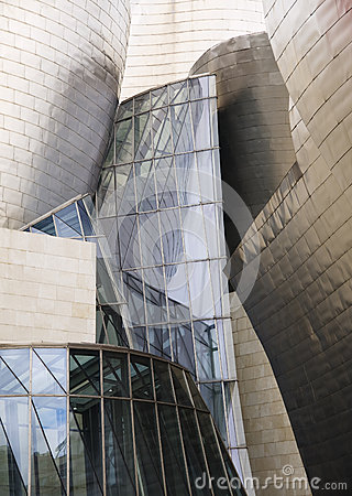 BILBAO, SPAIN-JULY 19: The Guggenheim Museum in Bilbao, Spain Editorial Stock Photo