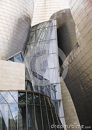 BILBAO, SPAIN-JULY 19: The Guggenheim Museum in Bilbao, Spain Editorial Stock Photo