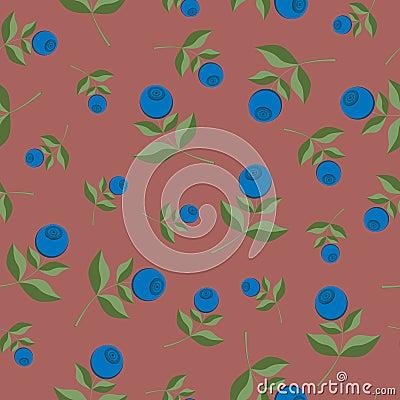 Bilberry seamless background pattern