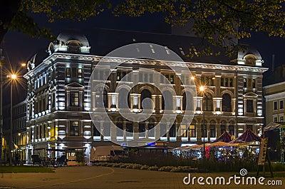 Bilding of Russian theatre in Riga, Latvia